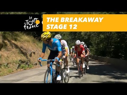 The breakaway  Stage 12  Tour de France 2018