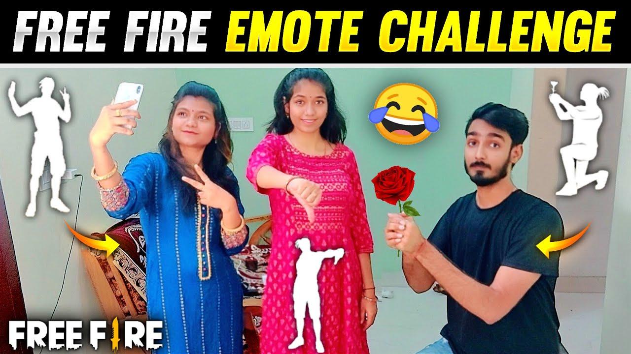 Real Life Emote Challenge - AAWARA vs AAWARI And Arshi 1 vs 2 Clash Squad 🤣 | Free Fire