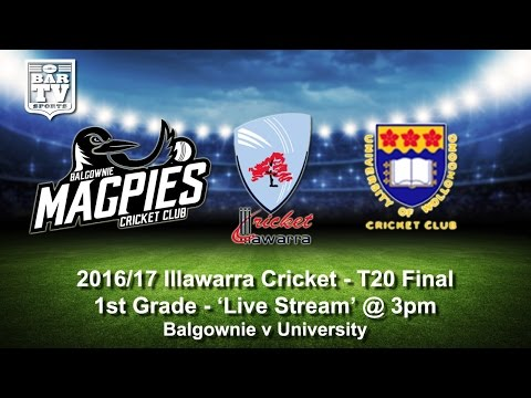 2016/17 Illawarra Cricket T20 Final - 1st Grade - Balgownie v University