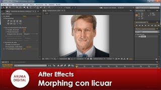 After Effects 150 Morphing de rostros con Licuar