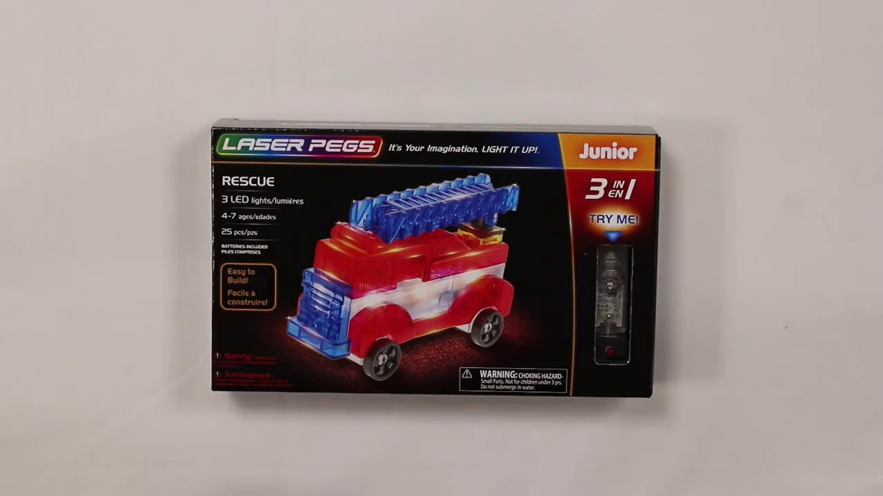 Laser Pegs Fire Truck 12-in-1 Building Set Building Kit