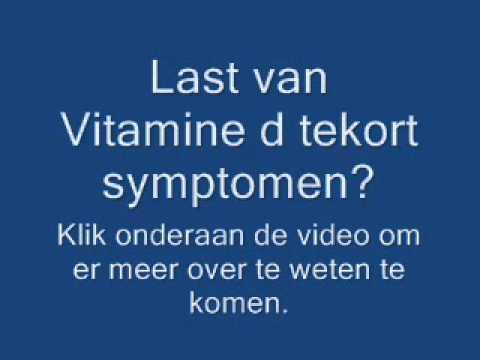 tekort aan vitamine d verschijnselen