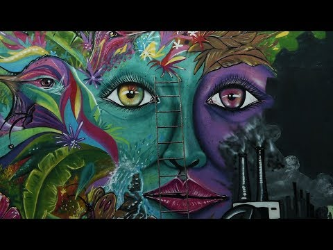 Colombia's street artists paint mural for peace