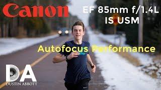 Canon EF 85mm f/1.4L IS | Autofocus Performance | 4K