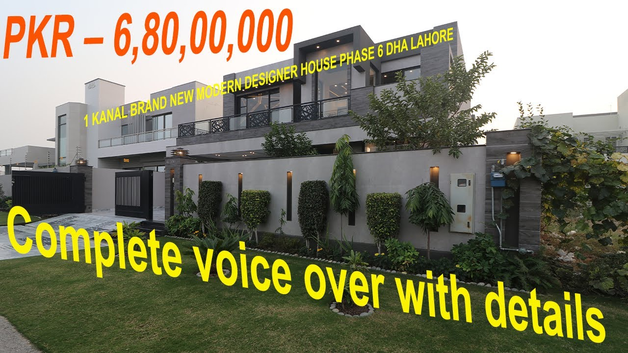6.80 CRORE - DHA LAHORE - PRIME LOCATION - 1 KANAL DESIGNER HOUSE - PHASE 6 - H No 67