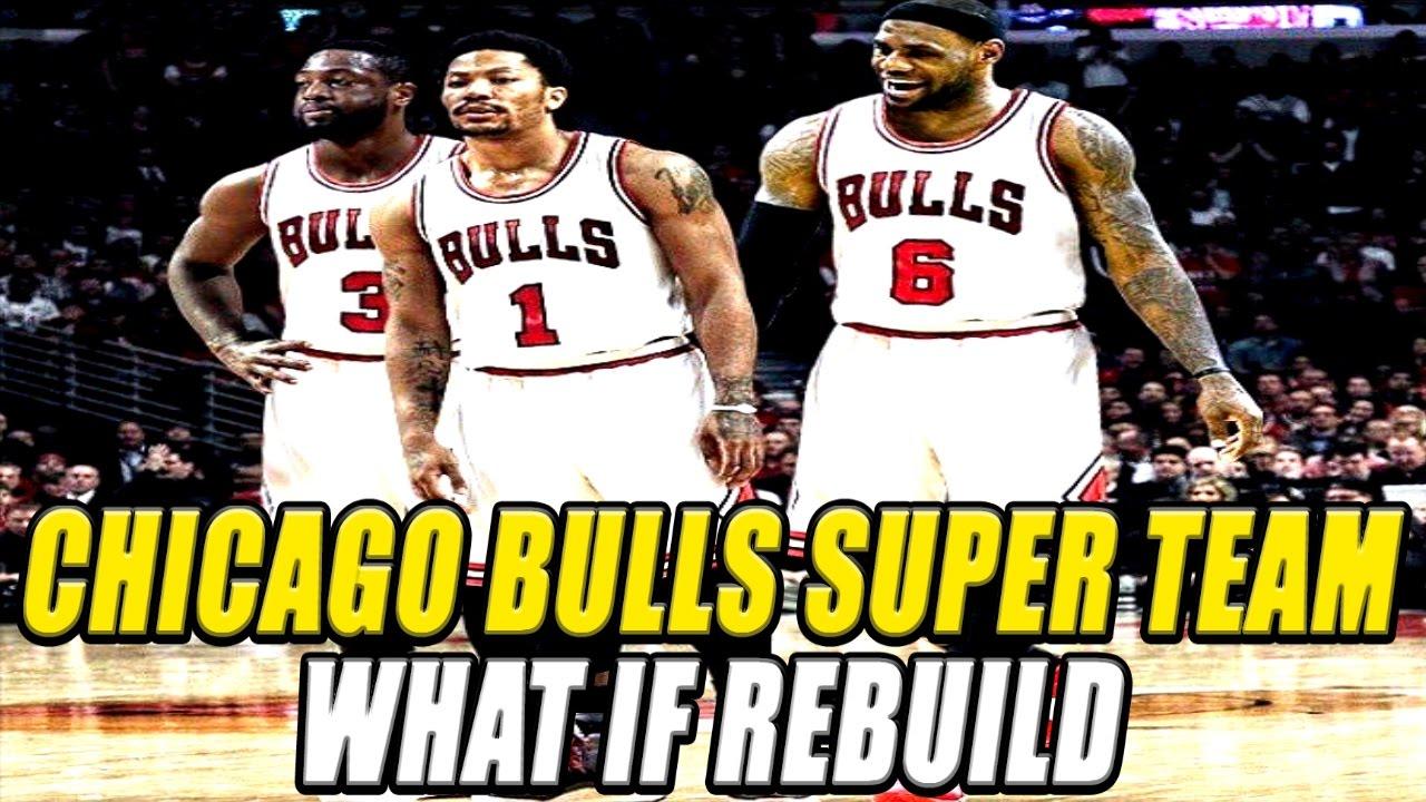 b77809d922c0 Lebron James + Derrick Rose + Dwyane Wade on the Chicago Bulls - What If  Rebuild - NBA 2K17 - YouTube