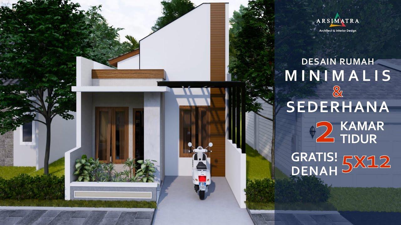 Desain Rumah Minimalis Sederhana 1 Lantai 5x12 Meter Nyaman Dan Plong Youtube
