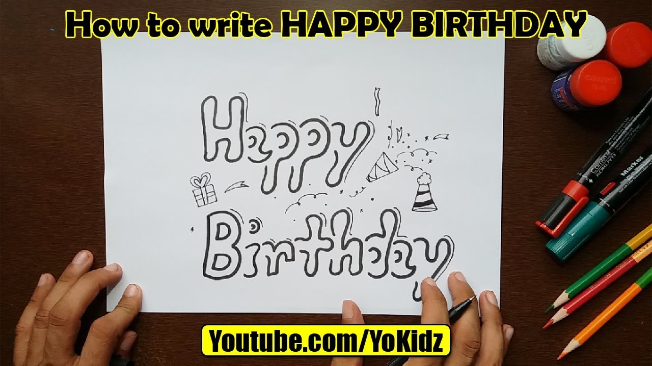 happy birthday in cursive writing