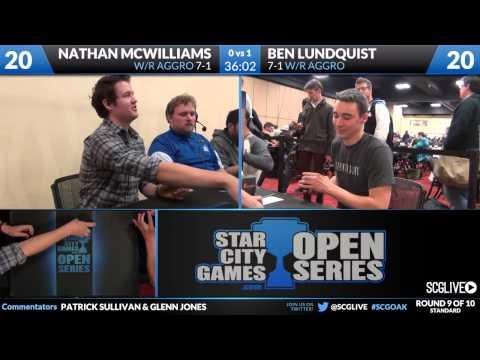 SCGOAK - Standard - Round 9 - Ben Lundquist vs Nathan McWilliamson