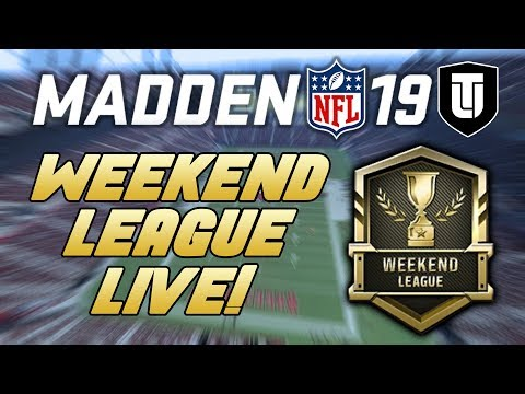 MADDEN NFL 19 MUT 19 WEEKEND LEAGUE LIVE with PurpleSwordfish!