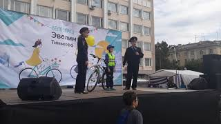 Напутствие велосипедистам перед велопробегом 2019
