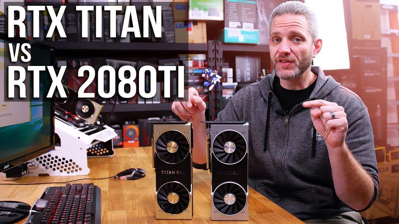 RTX Titan vs RTX 2080Ti Gaming Benchmarks