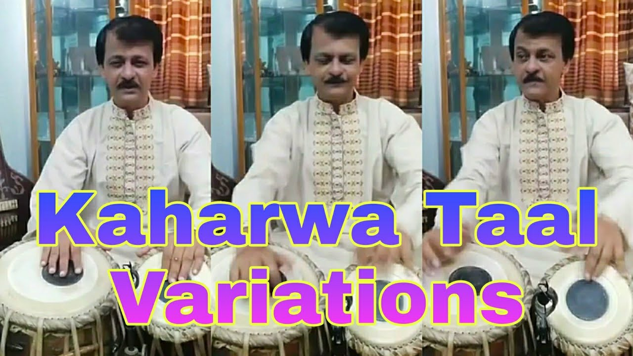 Kaharwa taal Variations | taal kaharwa Various theka on tabla कहरवे के प्रकार -Syed Sajid Hossain