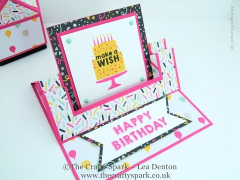It's My Party Fancy Fold Swing Easel Card Stampin' Up! UK