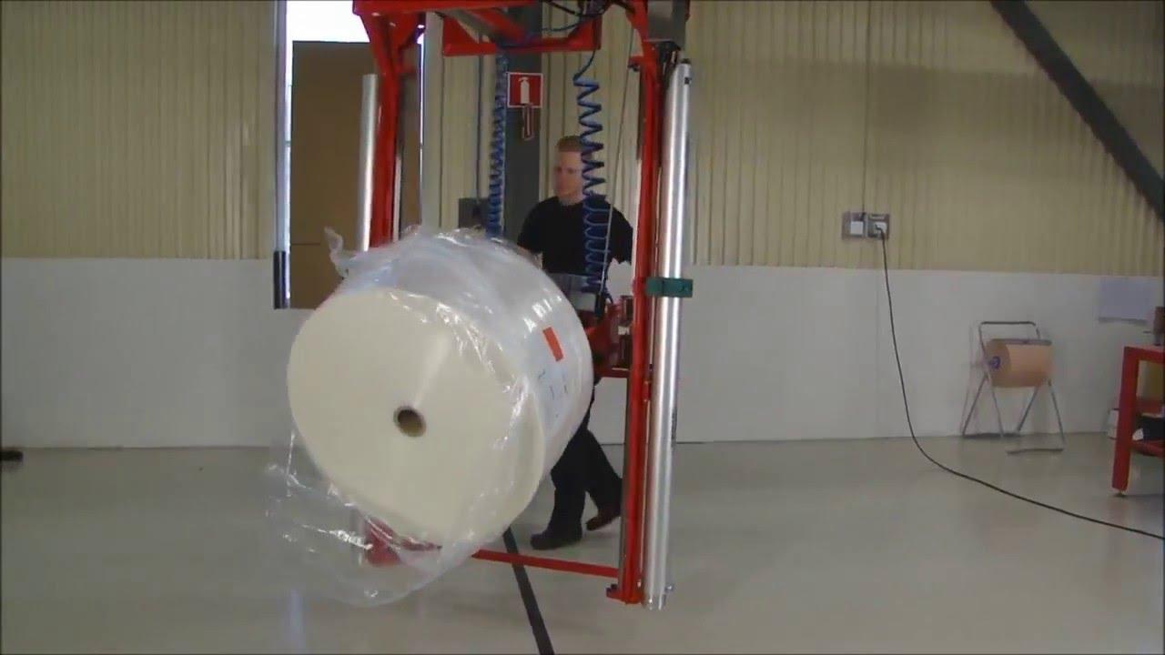 Manipulador industrial neumático para bobinas