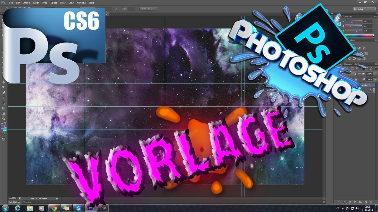 Photoshop - Youtube banner Vorlage [Download]【HD】 - YouTube
