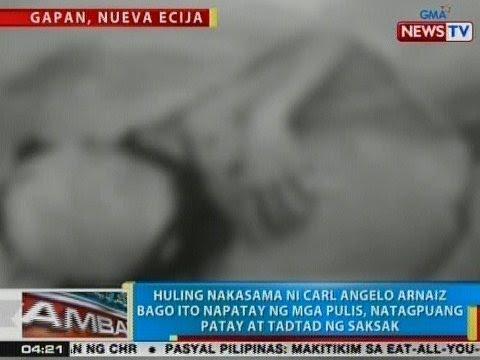 BP: Huling nakasama ni Arnaiz bago ito napatay ng mga pulis, natagpuang patay sa Gapan, Nueva Ecija