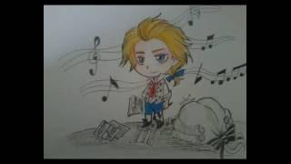 Mozart   chibi drawing