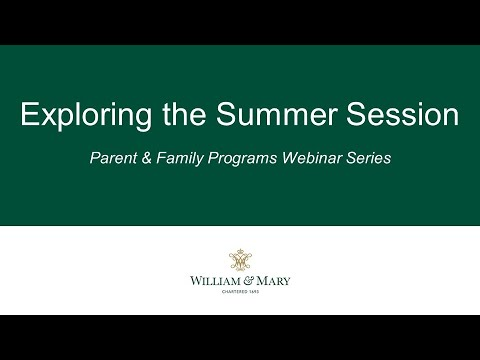 Exploring the Summer Session