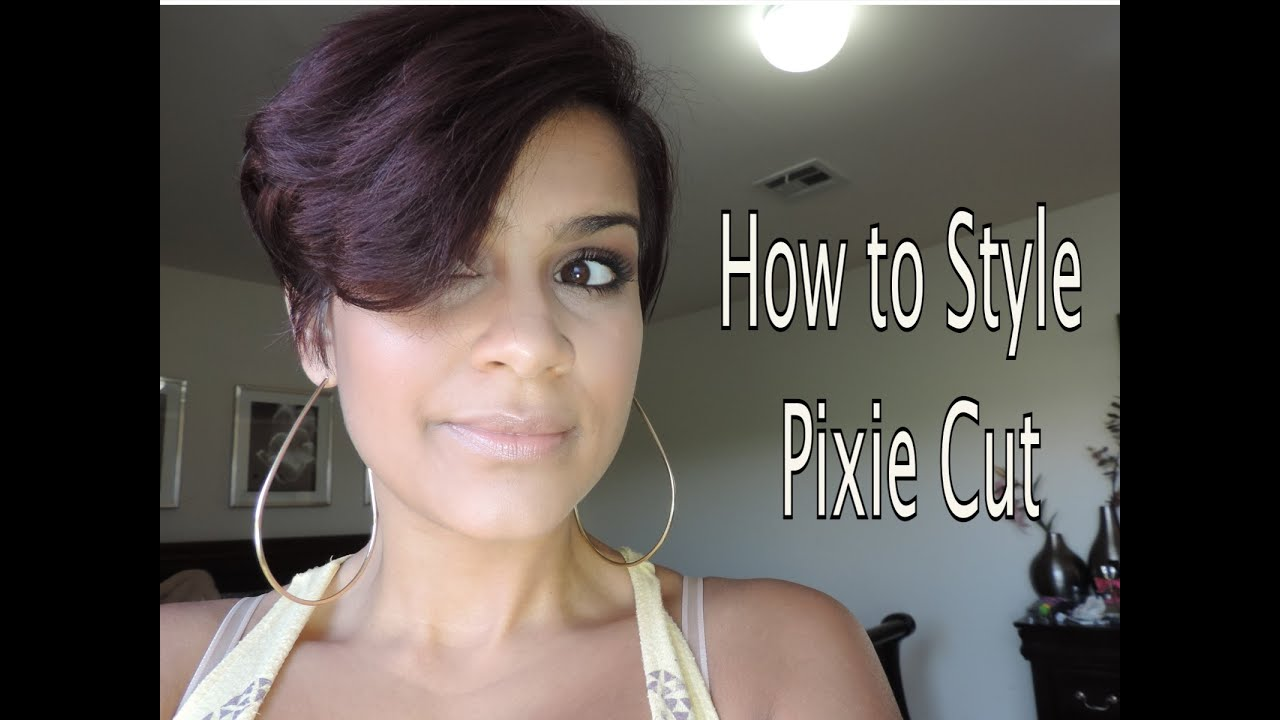 0 Cut Hair Style: Hair Tutorial: 3 Ways To Style A Pixie Cut
