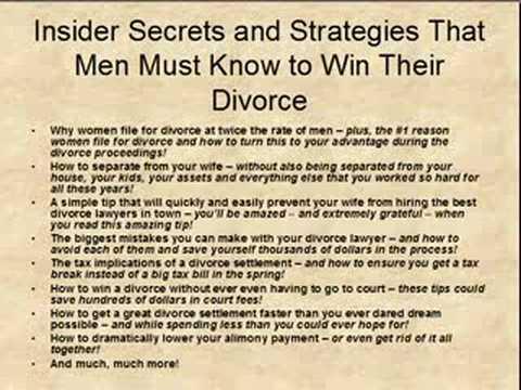 Mens Divorce Tactics and Strategies