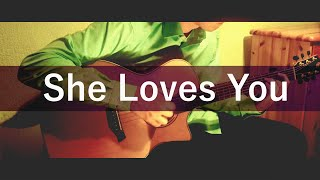 She Loves You - The Beatles [Fingerstyle Arrangement Adam Rafferty] COVER
