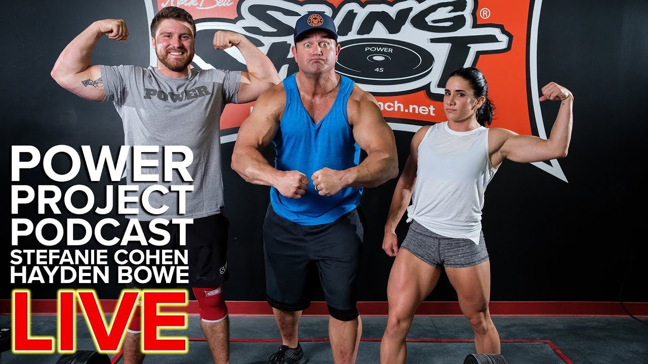 Mark Bell S Power Project Ep 65 Live Stefi Cohen Hayden Bowe Youtube