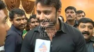 Actor Darshan joins farmers in the fight for Cauvery water at Mandya - Suvarna News