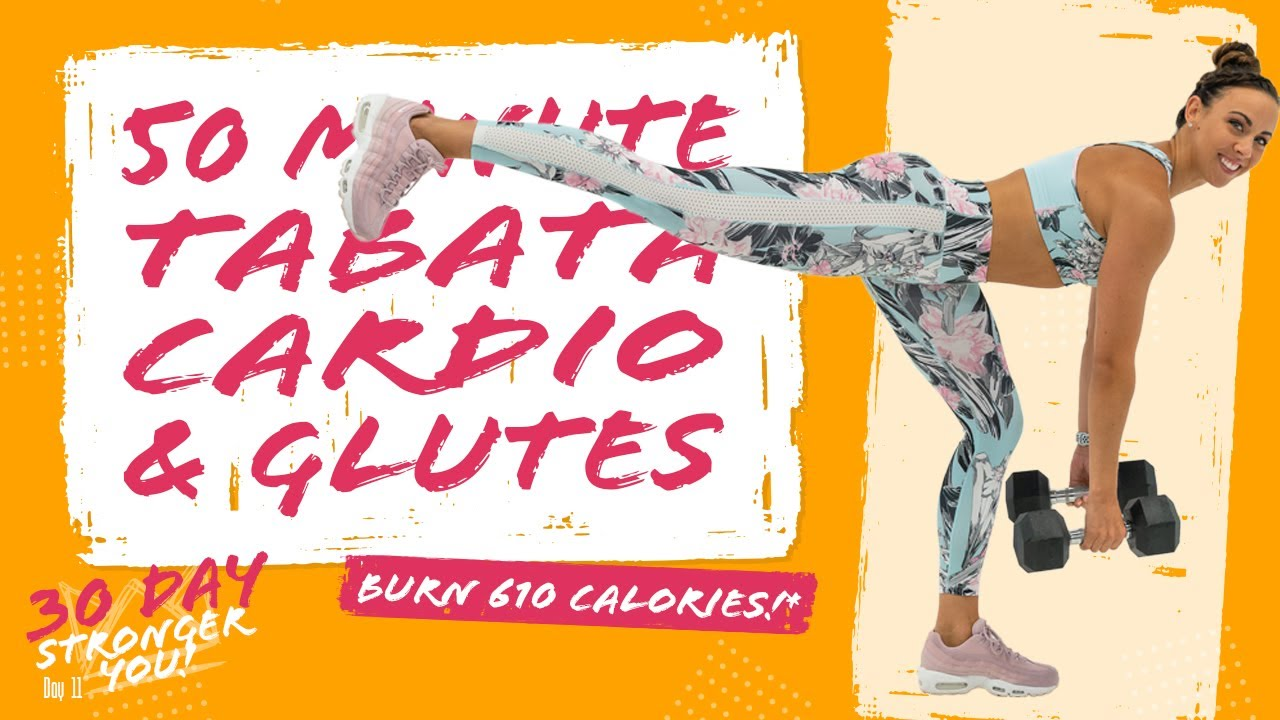 50 Minute Tabata Cardio and Glutes Workout 🔥Burn 610 Calories!* 🔥 Sydney  Cummings