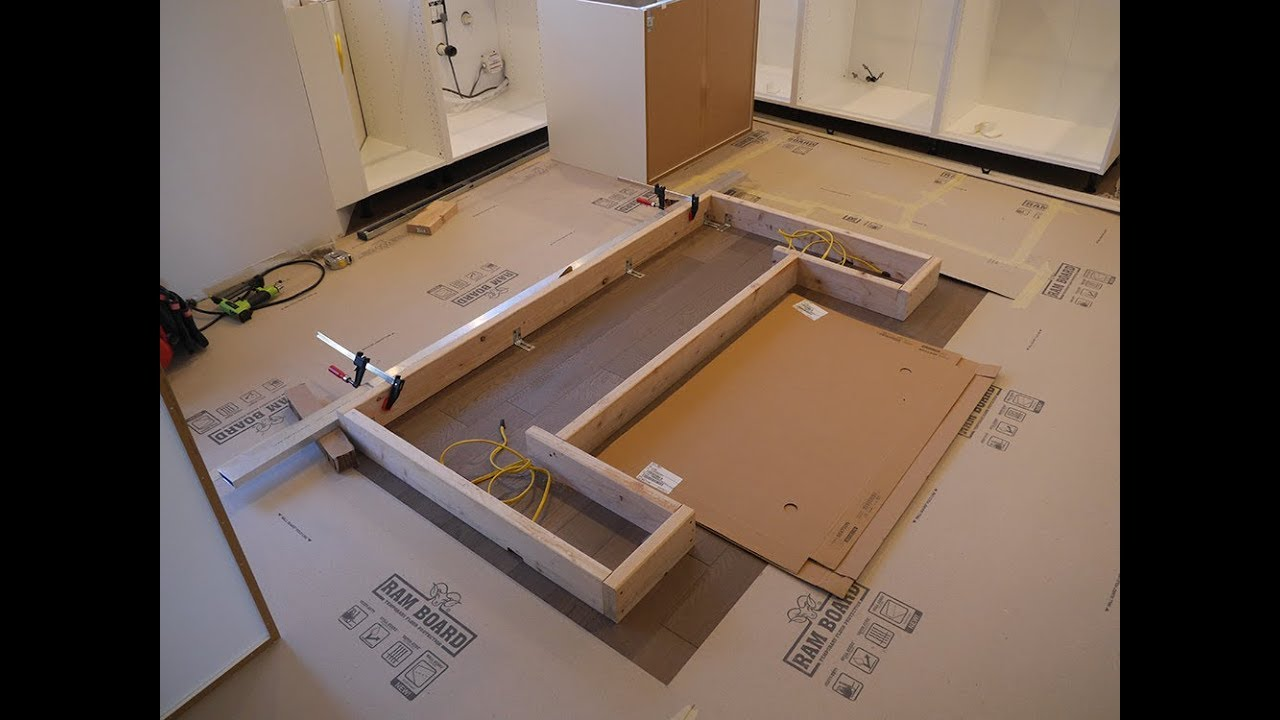 IKEA kitchen and custom island, installation - YouTube