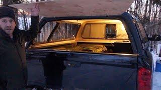 Winter Camping In Foŗest - DIY Truck Bed Camper