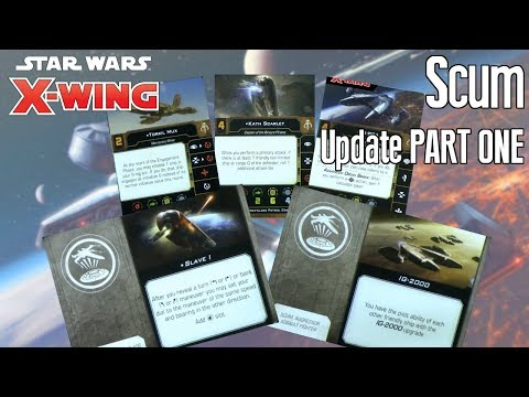X-wing Second Edition Update - SCUM PART ONE content from FFG's Conversion kit unboxing