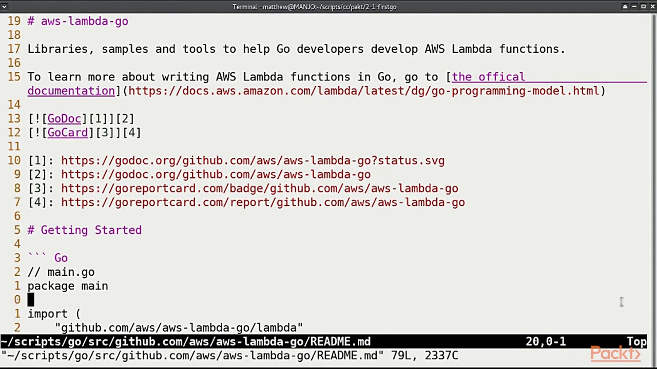Hands-on Serverless Computing with Go: Writing Our First Function in Go    packtpub com