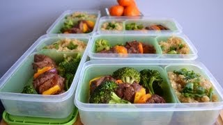 Bodybuilding & Fitness Meal Prep: Beef Kabobs & Quinoa (pinchos De Bistec Y Quinoa)