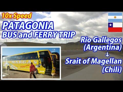 10x PATAGONIA BUS and FERRY TRIP Rio Gallegos → Strait of Magellan, Argentina to Chili