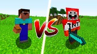 MINECRAFT - NOOB VS TNT PRO | MINECRAFT TNT BATTLE AND GRIEF PRANK thumbnail