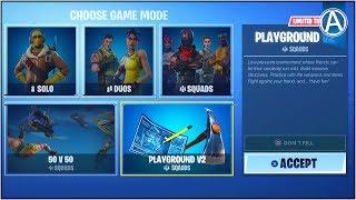 "NEW ""PLAYGROUND V2"" Gameplay UPDATE! (Fortnite Battle Royale ""PLAYGROUND V2"" Game Mode)"