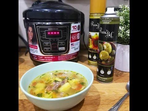 Суп в мультиварке с куриными желудками
