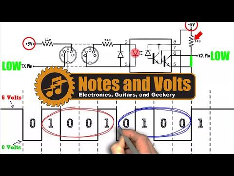 MIDI For The Arduino - Circuit Analysis