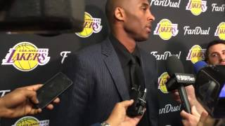 Looking back at Kobe: Kobe Bryant addresses OKC media