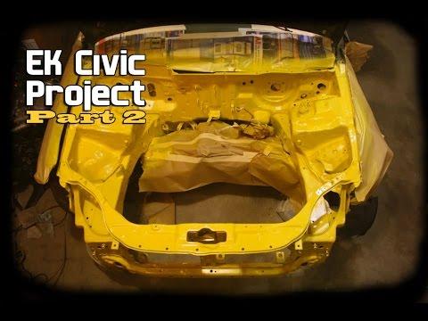 Ek Civic Project Motor Içi Boyama Part 2 Youtube