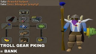 PKing BANK in TROLL GEAR (THIS ACTUALLY WORKED)