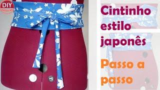 Cinto-faixa em tecido estilo oriental (OBI Belt) – passo a passo