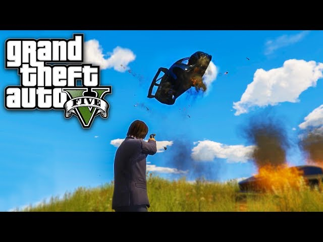 ODE MOJ BUGATTI CHIRON U VAZDUH ! Grand Theft Auto V - Lude Trke w/Cale