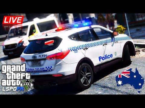 GTA 5 - LSPDFR Australia LIVE - Hyundai Santa Fe Patrol (Play GTA as a cop mod for PC)