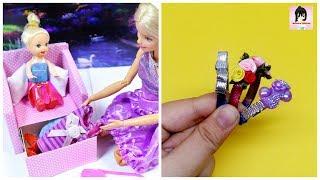 5 DIY Barbie Miniatures: Headband, Sofa, Hat, Hand Bag & more / BARBIE ACCESSORIES