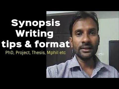 How To Write PhD Thesis Synopsis