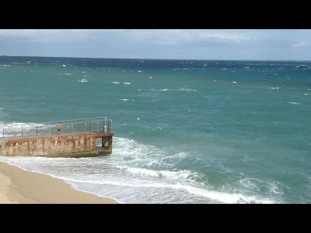 Galerna a la costa central - Badalona - Maig 2021