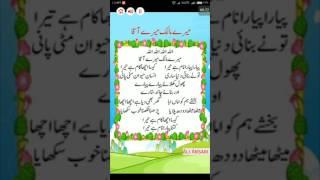 allah allah mere malik mere aaqa nazam urdu and hindi