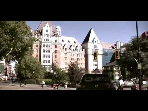Driving in Downtown Victoria BC Canada - Vancouver Island - Sightseeing Tour of Capital City
